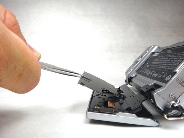 Remove black plate with tweezers.