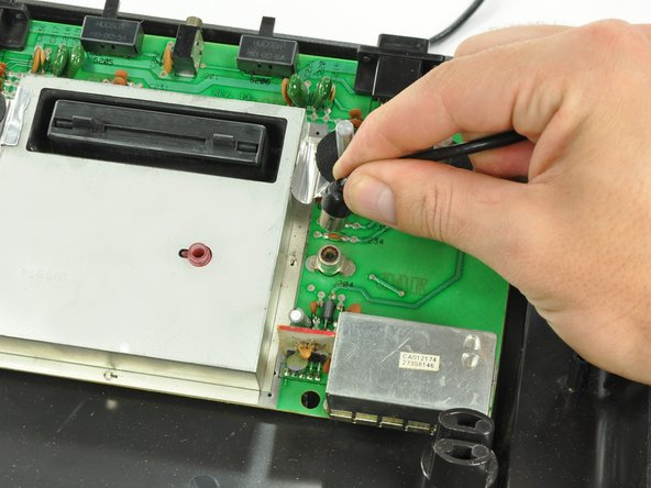 Finally, cables that are not soldered to the board! (Take note, Studio II.) The RCA cable is easily removed.