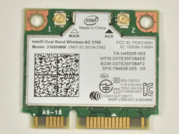 Acer E5-571-54FL WiFi Card Replacement