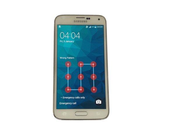 Samsung Galaxy S5-パスワードとスクリーンロックの解除