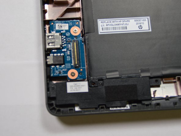 HP Chromebook 11-v002dx USB Board Replacement