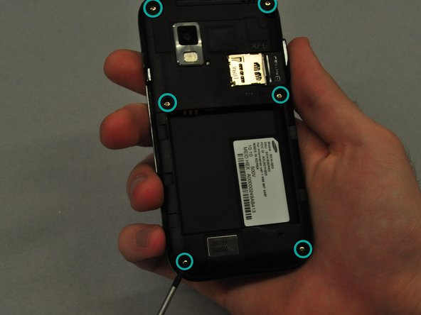 Use the screwdriver to unscrew each of the 6 silver screws holding the main case to the LCD touchscreen.