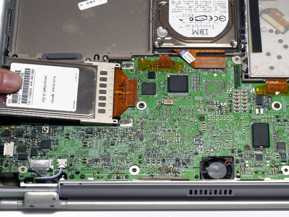 PowerBook G4 Titanium DVI Airport Card Replacement