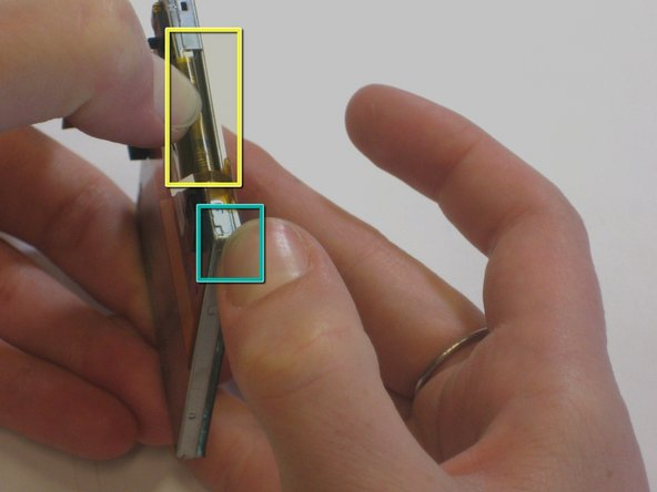 Move your thumbs to the other corner of the screen and repeat the same procedure in step 9.