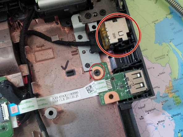 now remove the usb conncetor + the dc jack connector.