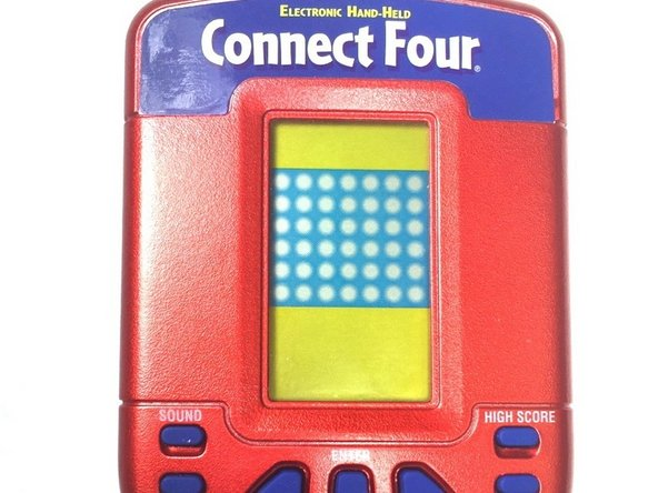 Make sure the Connect Four Electronic Handheld is off. There is no off button, so you will need to let it shut off automatically.