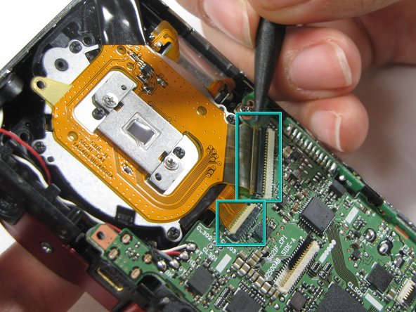 Sanyo VPC-X1200 shutter assembly replacement