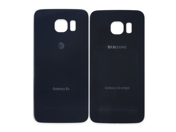 The rear panels are so similar we had to put them to the side-by-side comparison test: as we should have expected, the S6 Edge (right) panel is slightly smaller than the standard S6 (left) panel.