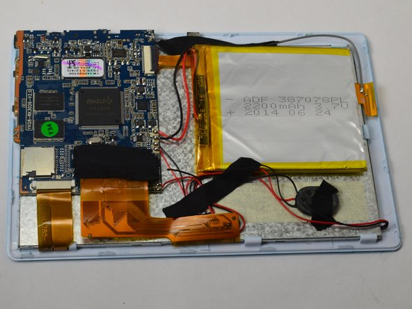 After separating the case and screen, turn your screen face down so you can see the internal parts!