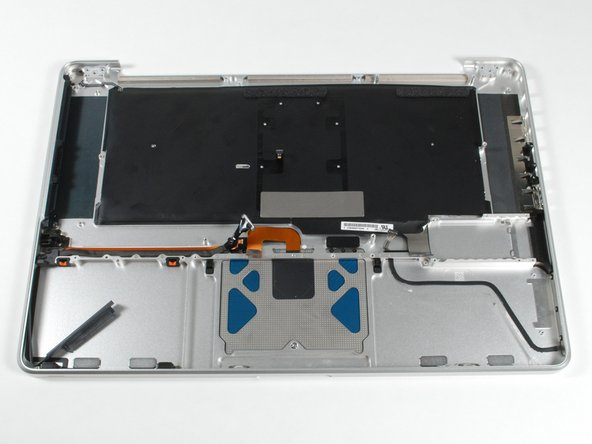 "The ""unibody"" upper case assembly."