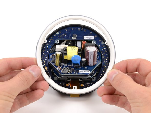 It is safe to say that we have never before torn down a device with more circular parts than this. Out comes another one.