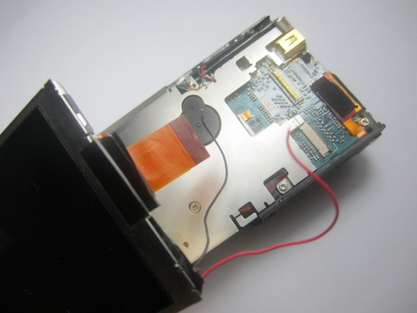 Separate the LCD screen from the rest of the mother board