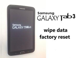 Samsung Galaxy Tab 3 Password Lock/Hard Reset