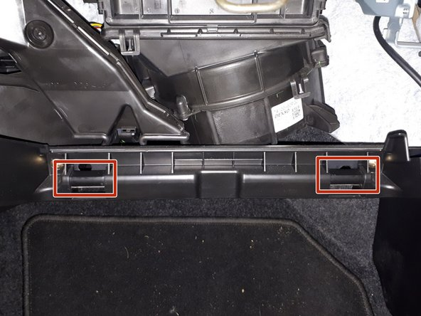 Put the glovebox hinge parts back into the frame hinge parts.