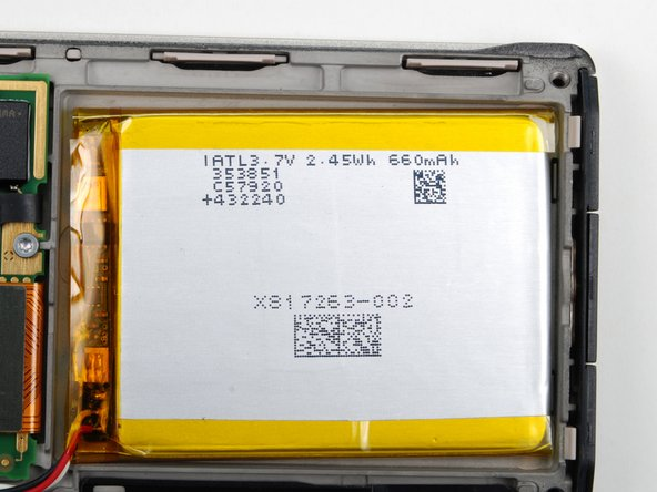 Battery: 3.7V, 2.45Wh, 660 mAh