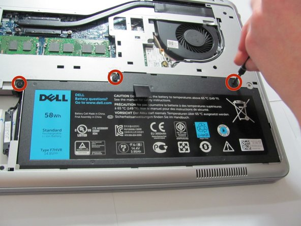 Dell Inspiron 15-7537 Battery Replacement