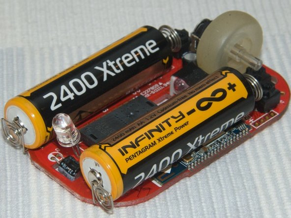 The batteries look enormous when inserted now. They weigh significantly more then the board itself.