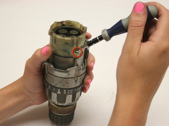 Remove the plastic gear chamber.