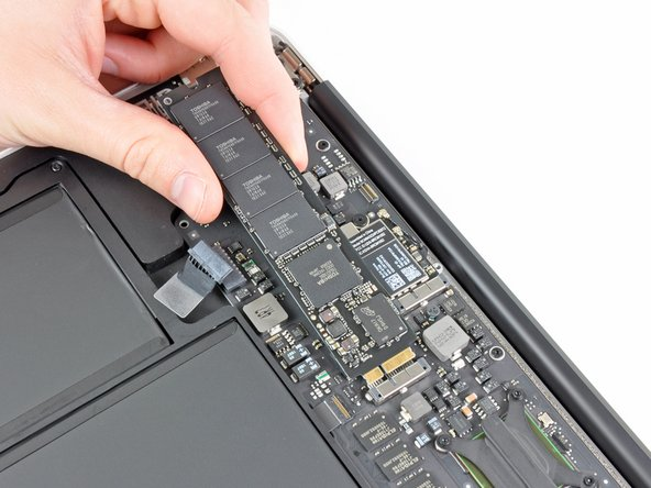 Do not lift the end of the SSD excessively.