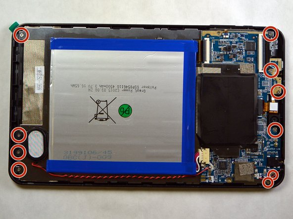Remove the 10 JIS #000 screws from the back of the device.
