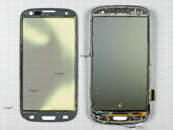 The glass is fused to the display, and the display to the Galaxy S III's frame.