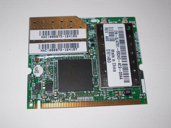 Removing Dell Inspiron 1150 Wireless MiniPCI Card