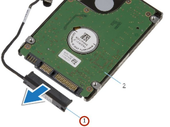 Connect the interposer to the new hard drive. The new drive must be a 2.5 inch hard drive.