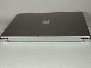 """Reemplazo del ensamblaje de la pantalla de aluminio PowerBook G4 de 15"""" 1.67 GHz"""