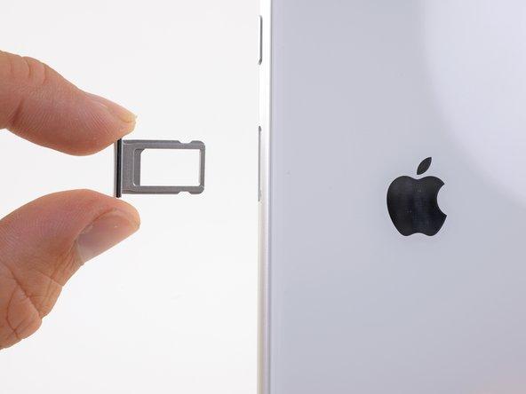Rimuovi il vassoio della scheda SIM dall'iPhone.
