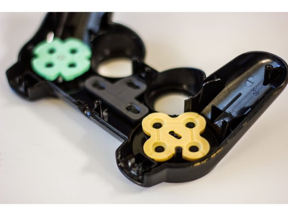 Analyze the rubber pads for any debris that may be getting in the way of the black pads. These make an electrical connection on the pad and may not be contacting properly.