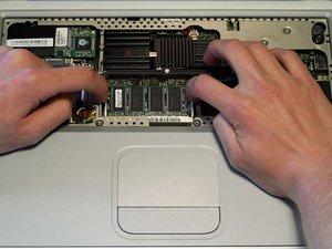 PowerBook G4 Titanium Mercury RAM Replacement