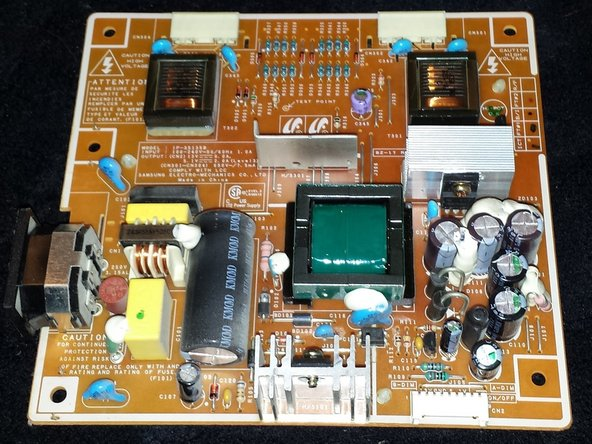 Samsung 930 LCD Monitor Power Board Replacement