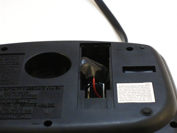 GE 7-4836B Alarm Clock AM-FM Radio Battery Wires Replacement