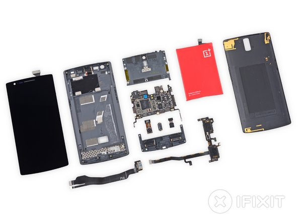 OnePlus One Repairability Score: 5 out of 10 (10 is easiest to repair).