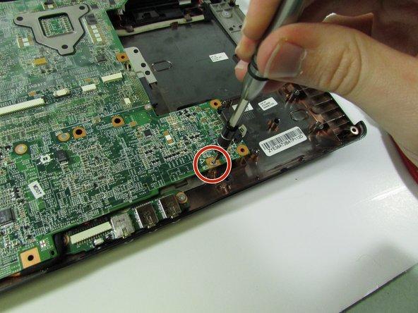 Remove screw near where the ExpressCard component was.