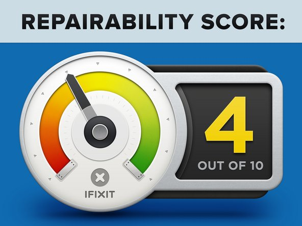 The Huawei P20 Pro earns a 4 out of 10 on our repairability scale (10 is the easiest to repair):