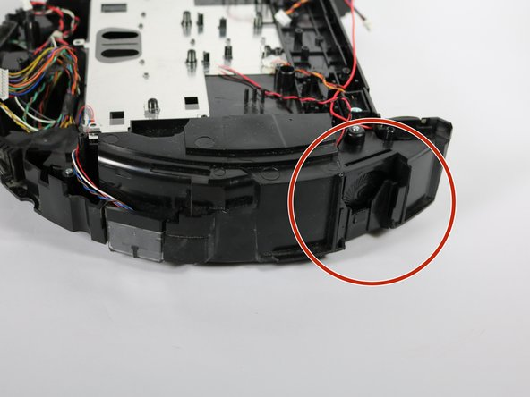Now you can easily snap the 6 replacement bumper sensors into the device, and begin the reassembly.