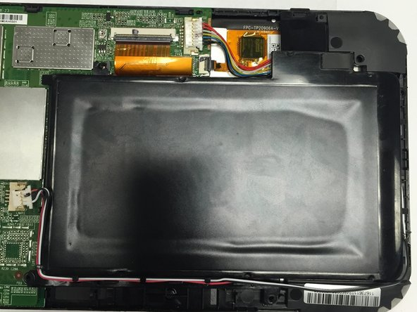 Install the new battery into your device, re-install the speakers, and perform the first six steps in reverse.
