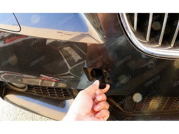 Insert license plate mount stick