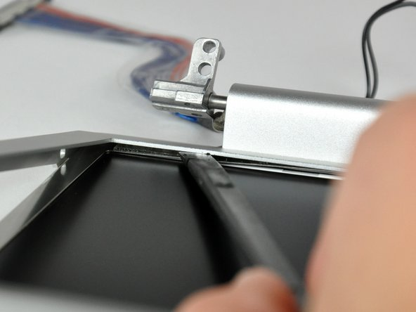 Flip your display over so the front bezel is facing up.