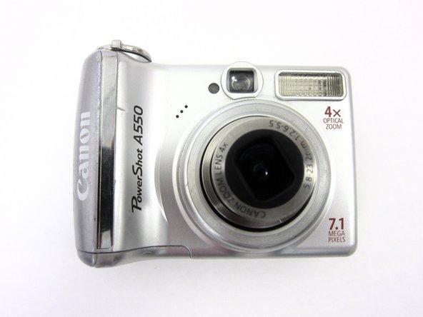 Canon PowerShot A550 Vorder- und Rückabdeckung abnehmen
