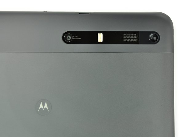 The Xoom features a 5 MP rear camera and a 2 MP front-facing camera. At least for now, Motorola's got Apple clocked in the tablet camera arena.