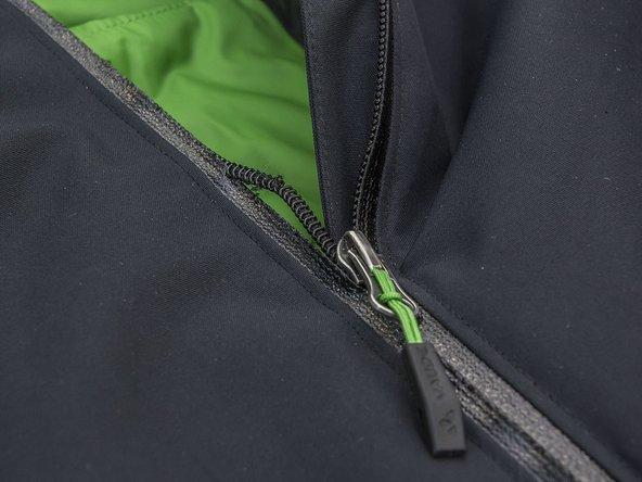 How do I replace a broken zip on my Vaude jacket?