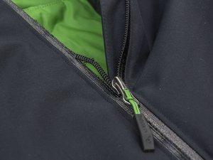A zip on a jacket