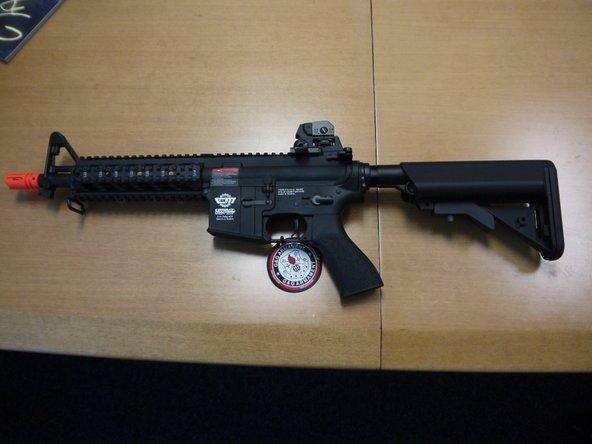 Identifying Combat Machine 16 Carbine and a Raider airsoft guns