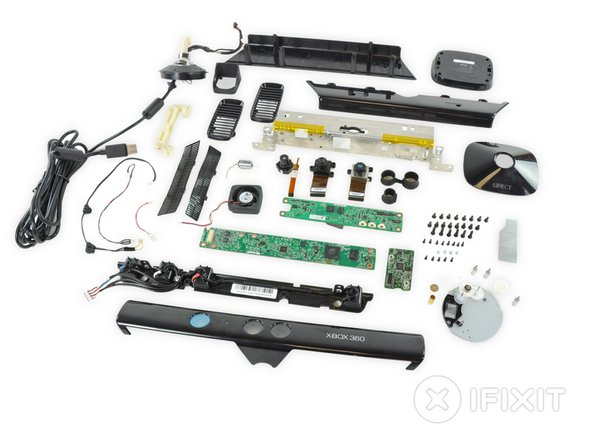 Our Kinect is now fully disassembled.