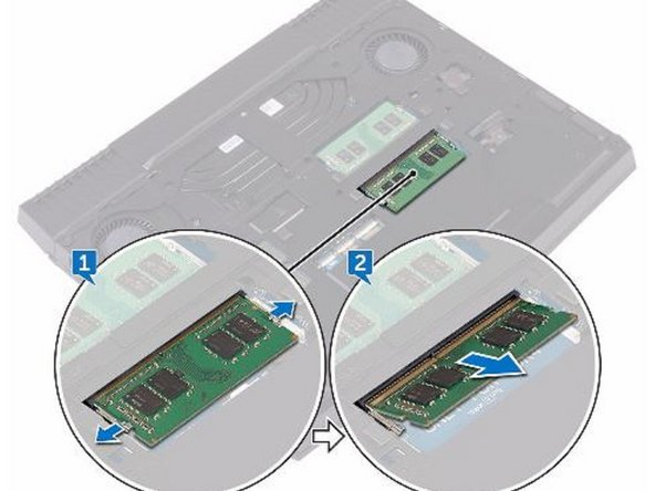 Slide and remove the memory module from the memory-module slot.