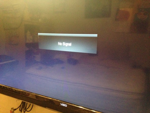 Repairing Vizio Television  Cable Connection