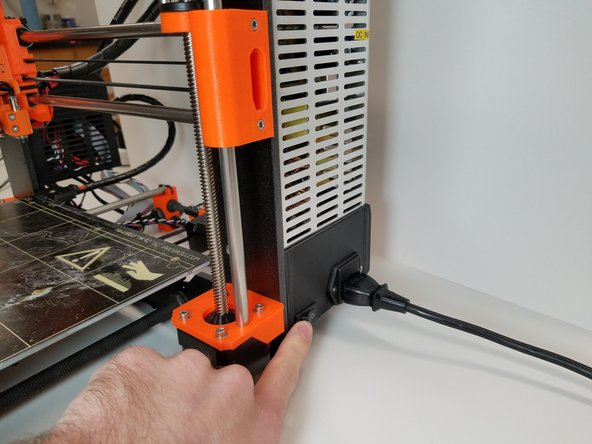 Turn the 3D printer on using the power switch.