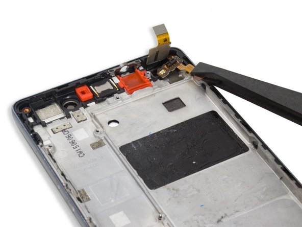 Remove the sensor flex. It's covered under the digitizer flex and fastened by adhesive.